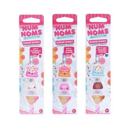 Num Noms Eraser 3-Packs Case