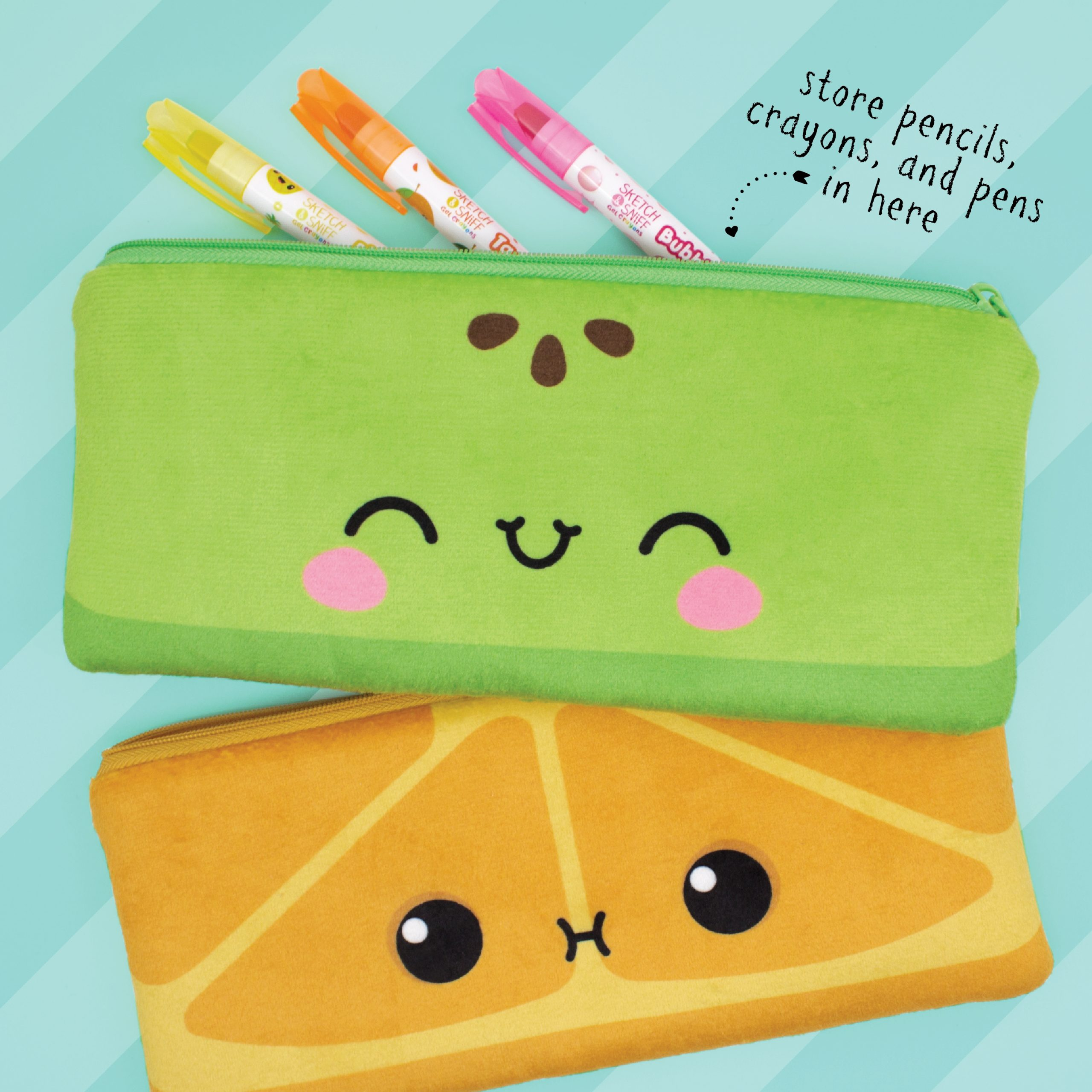 Cutie Fruities Plush Pencil Pouches